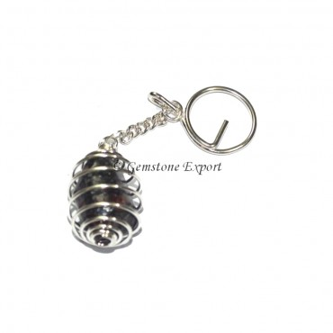Blood Stone Cage Tumbled Keyring
