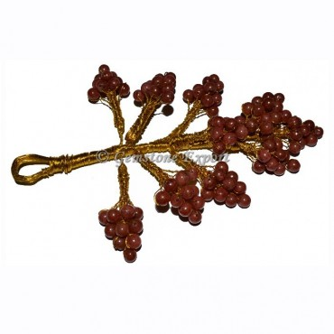 Red Jasper Hanging Leaf