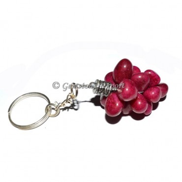 Ruby Grapes Keychain