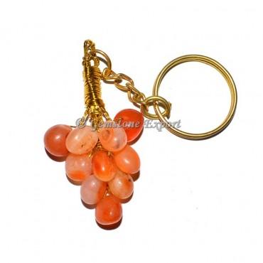 Carnelian Grapes Keychain