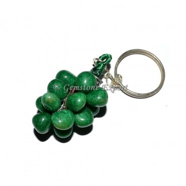 Green Jade Grapes Keychain