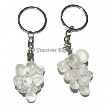 Crystal Quartz Grapes Keychain
