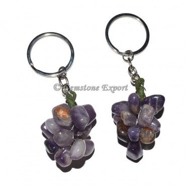 Amethsyt Grapes Keychain