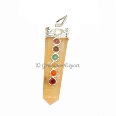 Golden Quartz Chakra pendants