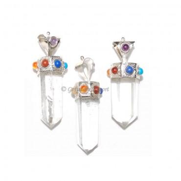 Seven Chakra Crystal Quartz Pendants