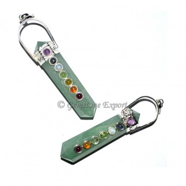 Green Aventurine Double Point Chakra Pendants
