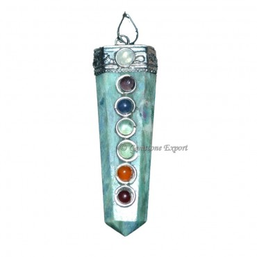 Ruby Zeosite Chakra Flate Pencil Pendants