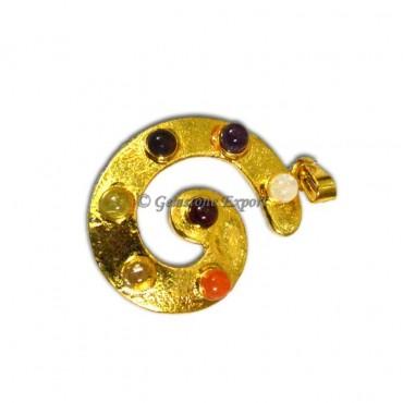 Sea Shell Chakra Gold Pendants