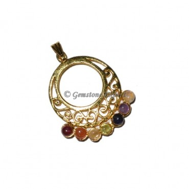 Chakra Gold Pendants