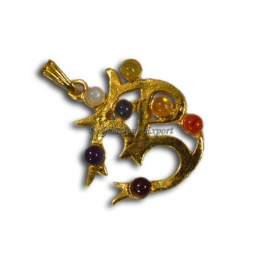 Chakra Om Gold Pendants