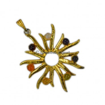 Chakra Sun Gold Pendants