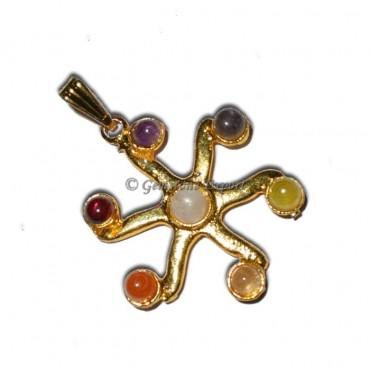 Chakra Small Sun Gold Pendants