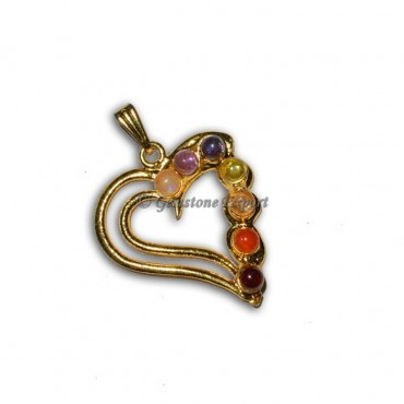 Chakra Heart Gold Pendants