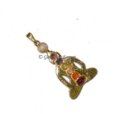 Chakra Budhdha Gold Pendants