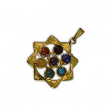 Chakra Pyramid Gold Pendants