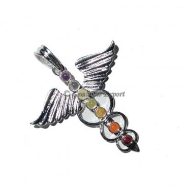 Chakra Eagle Brass Pendants