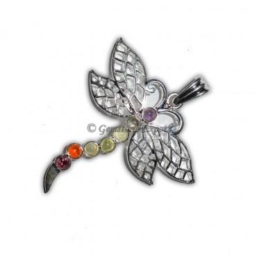 Chakra Butterfly Brass Pendants