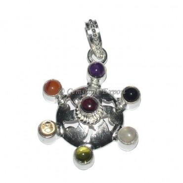 Flower Seven Chakra Pendant