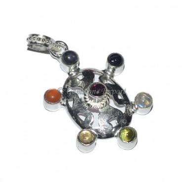Oval Shape Seven Chakra Pendant