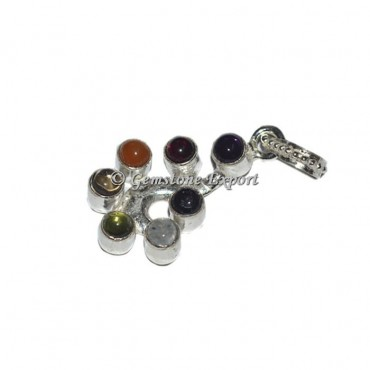 Agate Seven Chakra Mini Pendant