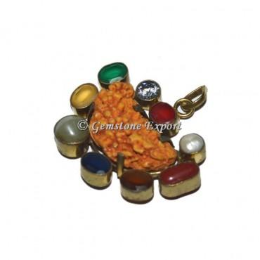 Rudraksha 9 Charka Stones Pendants