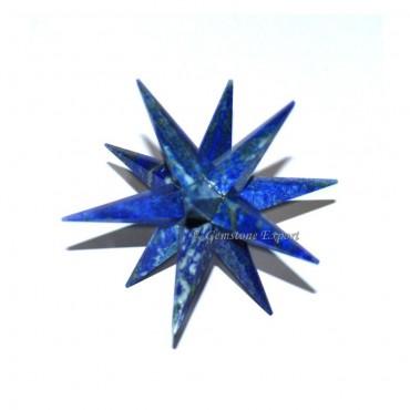 Lapis Lazuli 12 Point Star