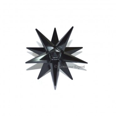 Black Agate 12 Point Merkaba Star