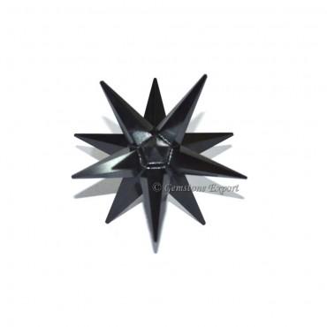 Black Agate 12 Point Merkaba Star