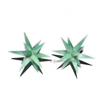 Green Jade 12 Point Star