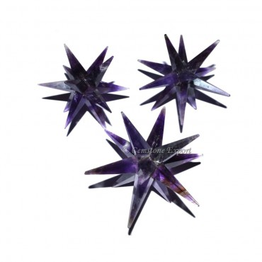 Amethyst 12 Point Star