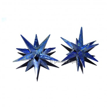 Lapis Lazuli 12 Point Big Star