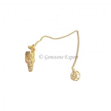 Pentagram Gold Cage  Pendulums