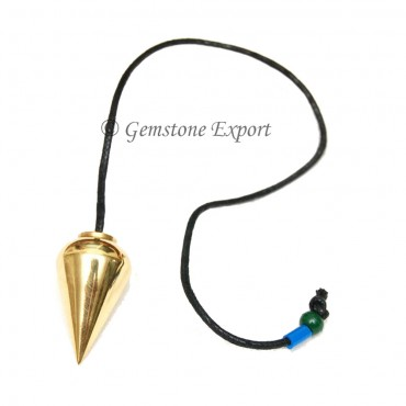Gold Plane Pendulums With Leather cord
