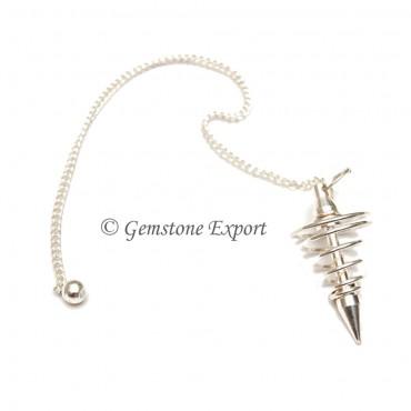 Silver Spiral Pendulums