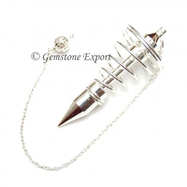 Silver Big Spiral Pendulums
