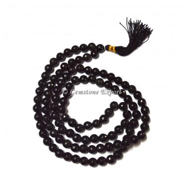 Black Onyx Faceted Jap Mala