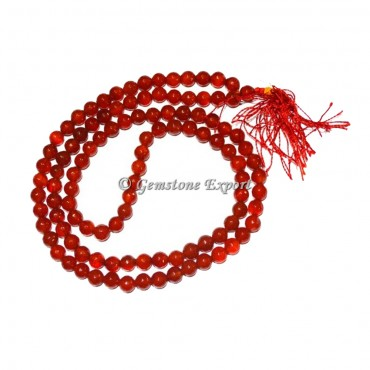 Red Onyx Faceted Jap Mala