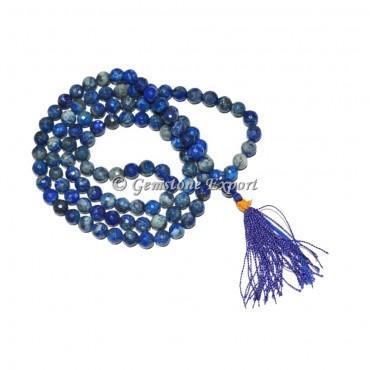 Lapis Lazuli Faceted Jap Mala