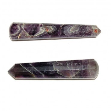 Amethyst 16 Faceted Massage Wands