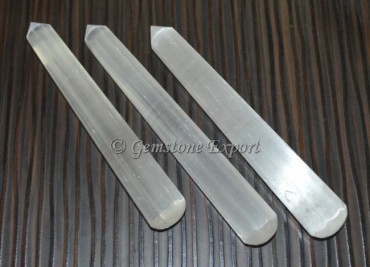 Selenite faceted Massage Wands