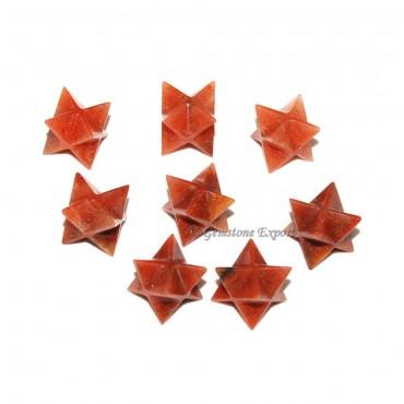 Peach Aventrurine Merkaba Star