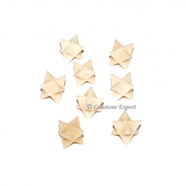 Light Peach Aventurine Merkaba Star