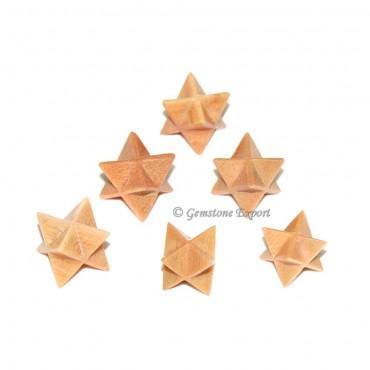 Light Peach Aventurine Merkaba Star