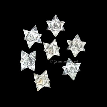 Crystal Quartz Merkaba Star