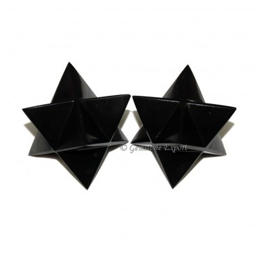 Black Agate Merkaba Star