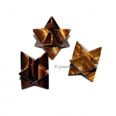 Tiger EyE Big Merkaba Star