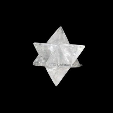 Crystal Quartz Big Merkaba Star