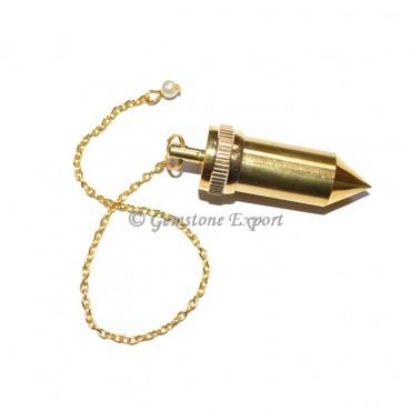 Double Brass Dowsing Pendulums-Bullet