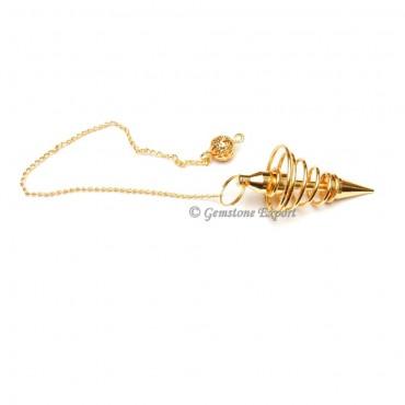 Golden Small Brass Spiral Pendulums