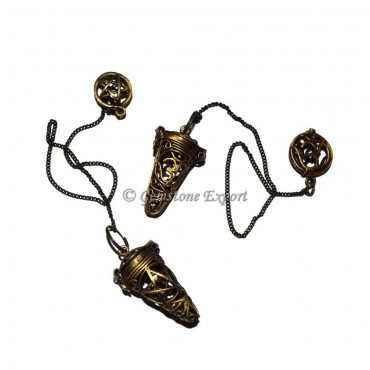 Natural Brass Cage Pendulums